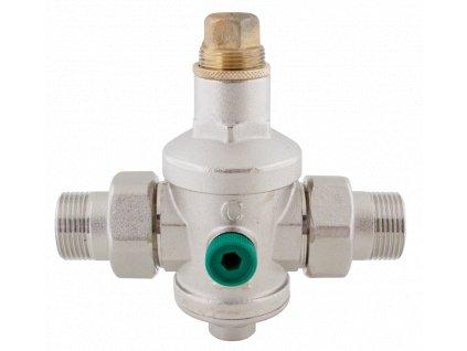 """Regulátor tlaku vody  3/4""""  do 20barů s připojením na manometr 1-6barů 746"""