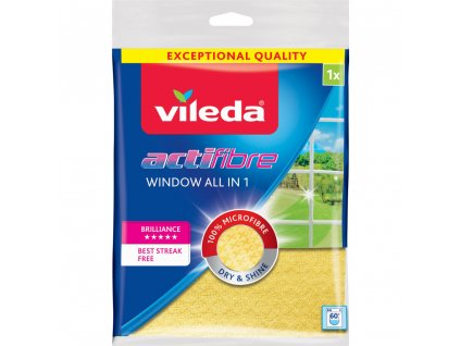VILEDA Actifibre hadřík na okna, 32×36 cm, 1ks