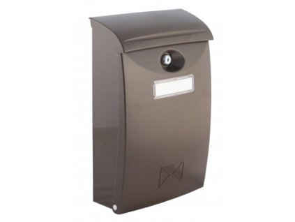 Poštovní schránka PVC hnědá 24x10.5x34.5cm