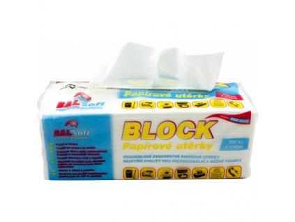 BALsoft Block 2vrstvé papírové utěrky, 200 ks