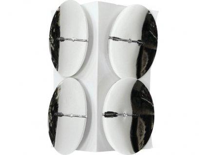 Bodec na svíčky (4ks) stříbrný, průměr 5 cm