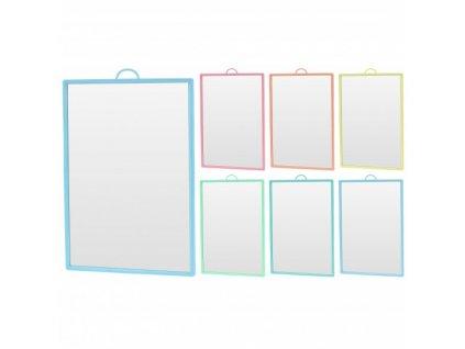 Zrcadlo obdélníkové 17x12xcm, malé, různé barvy