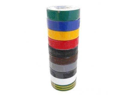 Izolační páska 15mm x 10m - různé barvy. 10ks - GEKO