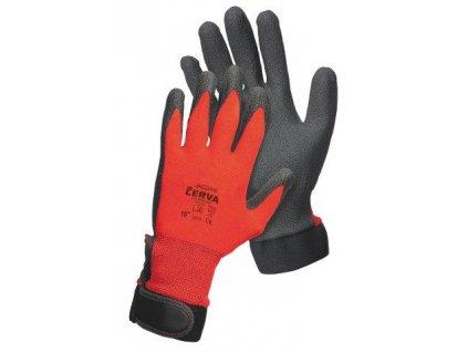 JACDAW - pletené bezešvé nylonové rukavice - velikost 9