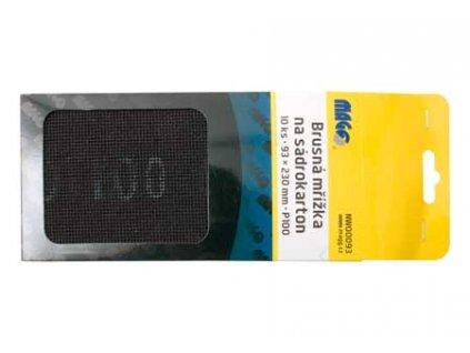 Brusná mřížka na sádrokarton 10 ks, 93x290 mm, P100
