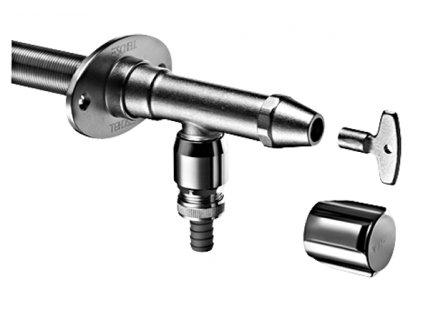 Venkovní mrazuvzdorný ventil POLAR II Set zkracovatelný na nástrčný klíč i rukojeť Comfort