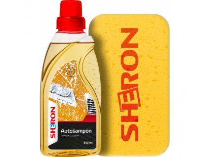 Sheron Autošampon s voskem + houba, 500 ml