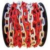Řetěz SLC plastový, 6 mm, červeno-bílý  / CENA ZA METR