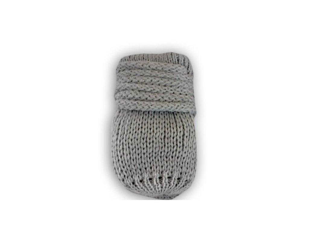 52049 76652 zimni pletene kojenecke rukavicky sv sede