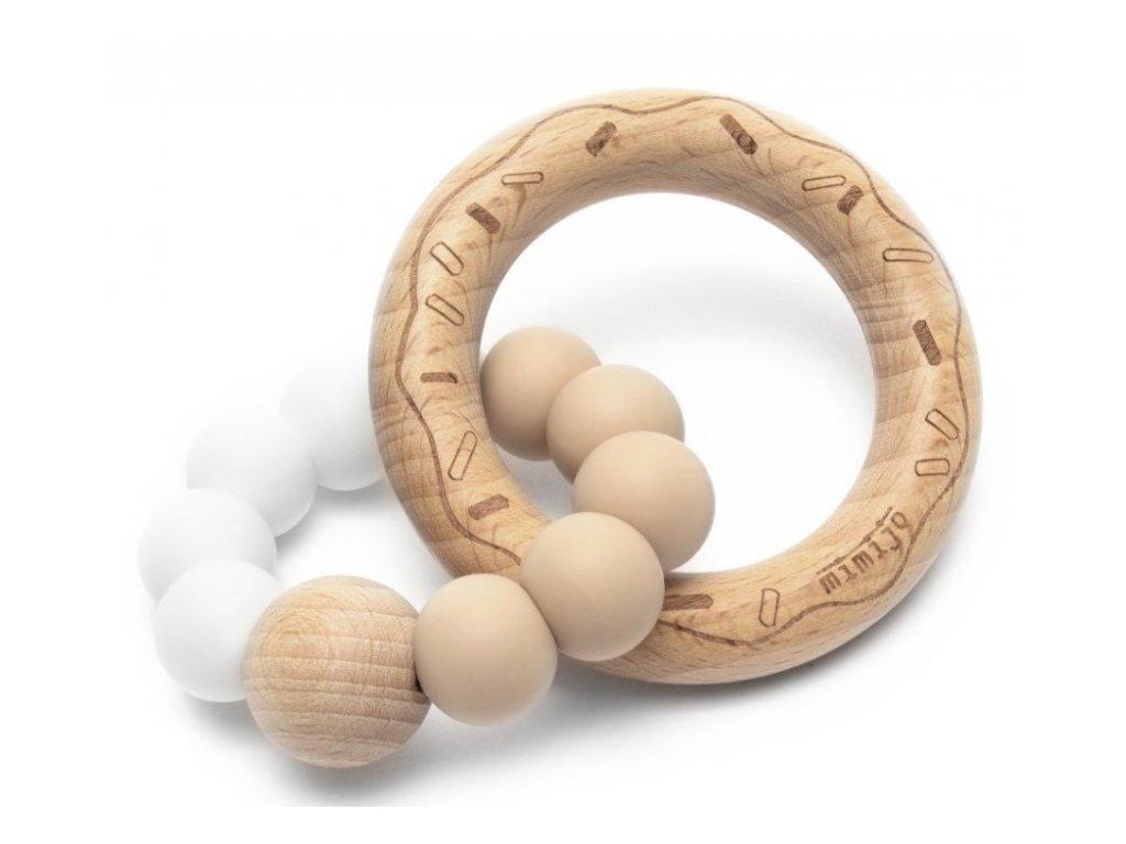 121738 208132 mimijo silikonove kousatko donut bilo bezovy