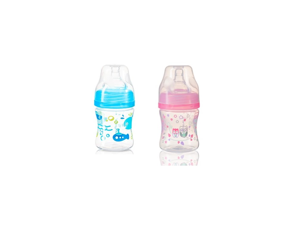 Antikoliková lahvička se širokým hrdlem - BabyOno - VÍCE VARIANT