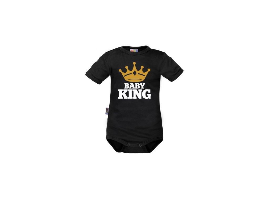 102965 173281 body kratky rukav dejna baby king cerne