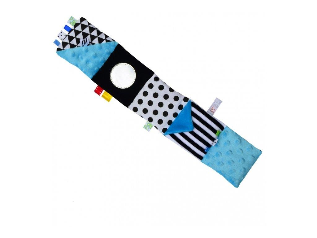 93628 154174 mini textilni knizka modra