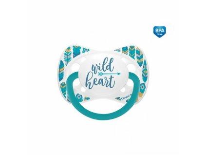 97611 160998 dudlik symetricky wild heart 18m c tyrkysovy