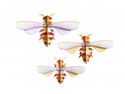 honey bees, set of 3