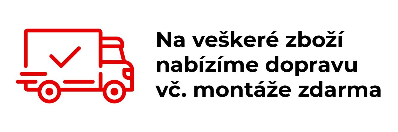Doprava a montáž produktu po celé České republice zdarma