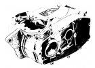 Skříň motoru Jawa Kývačka