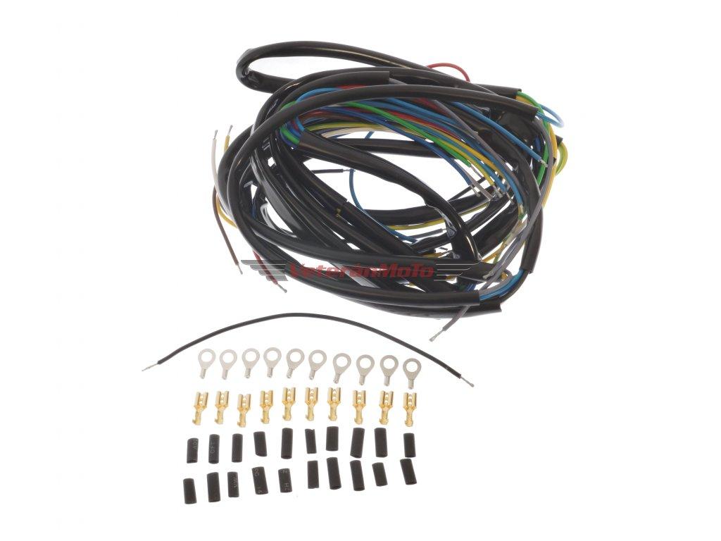 Elektroinstalace /kabeláž kompletníse spínací skříňkou na nádrži JAWA PÉRÁK, KÝVAČKA