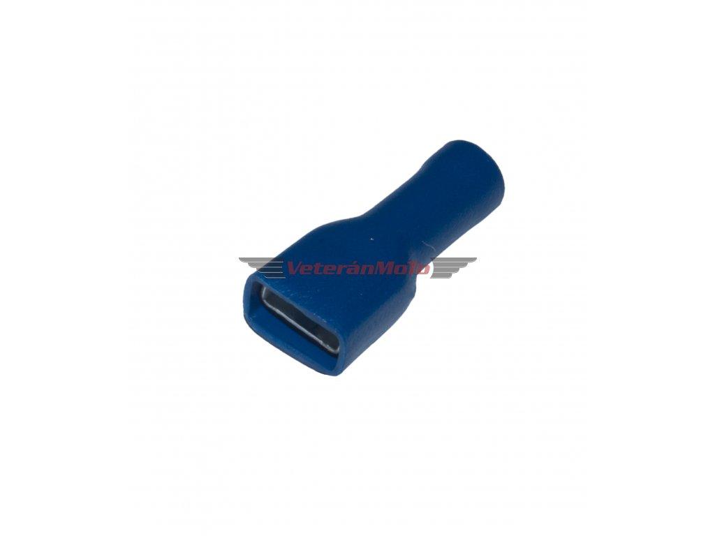 Konektor samice/ objímka plochá izolovaná 6mm (1,5-2,5kabel)