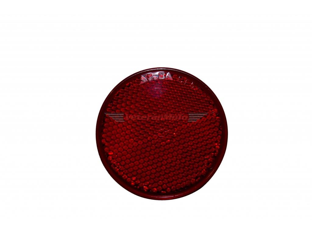 Odrazka kulatá červená 60mm samolepící