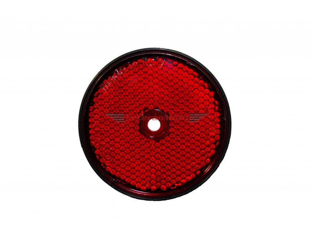 Odrazka kulatá červená 60mm s otvorem