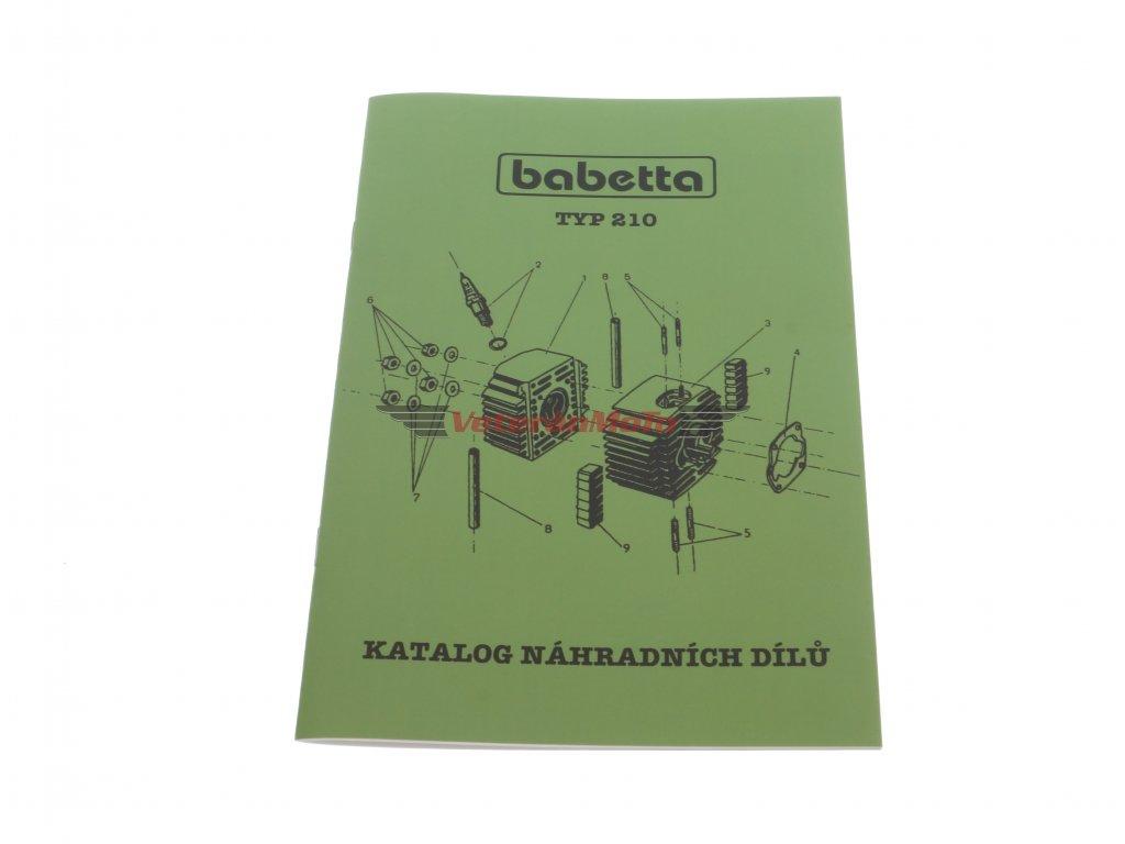 Katalog náhradních dílů BABETTA / BABETA 210