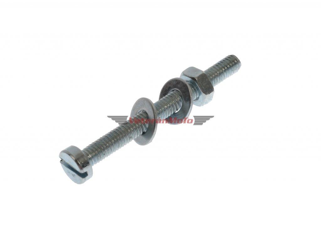 Šroub přepínače světel / směrovek / blinkrů na řídítka kompletní - zinek