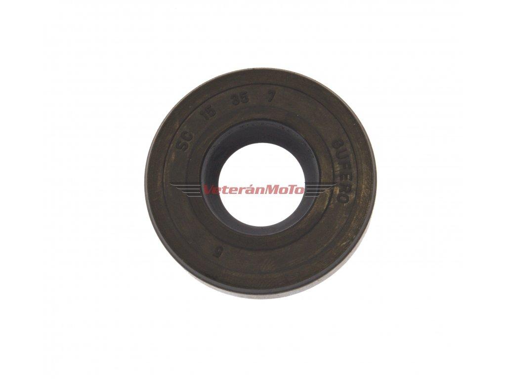 Gufero (hřídelový těsnící kroužek, simmerring, simering, simerink) NBR 15x35x7