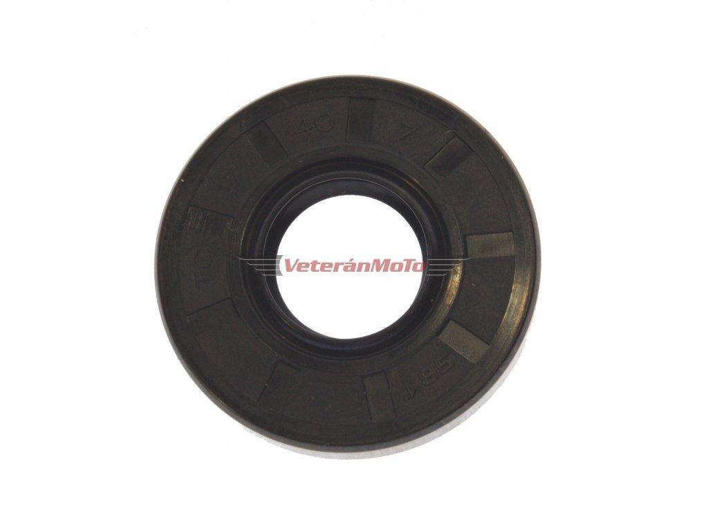 Gufero (hřídelový těsnící kroužek, simmerring, simering, simerink) NBR 17x40x7 GP