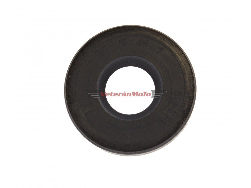 Gufero (hřídelový těsnící kroužek, simmerring, simering, simerink) NBR 17x40x7