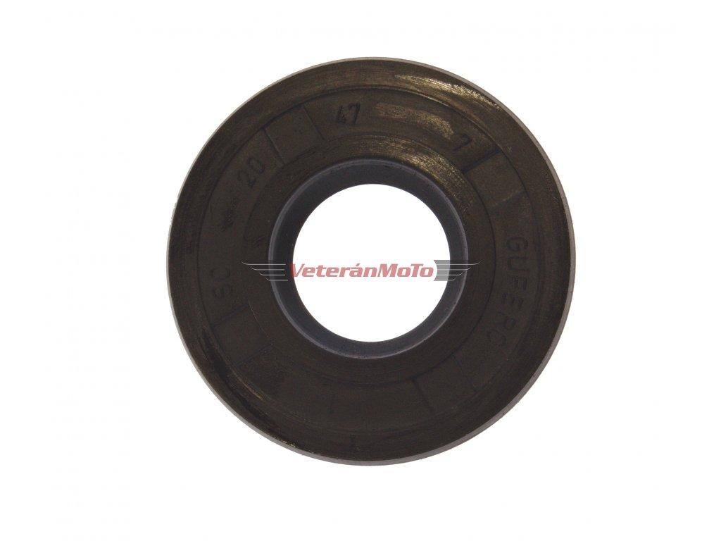 Gufero (hřídelový těsnící kroužek, simmerring, simering, simerink) NBR 20x47x7