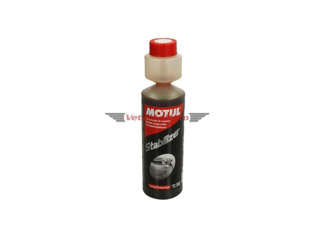MOTUL STABILIZER-Aditivum do benzínu proti oxidaci a tvorbě usazenin. Objem 250 ml