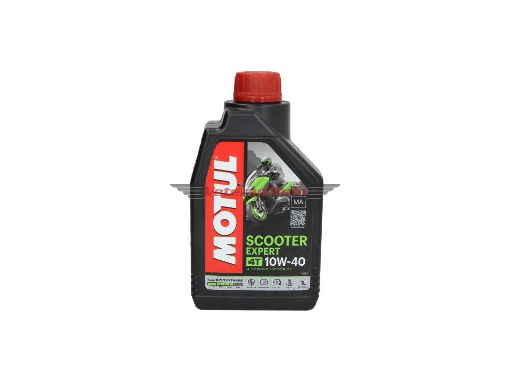 Olej pro čtyřtaktní motory Scooter Expert 4T SAE 10W40 1L; JASO MA SM