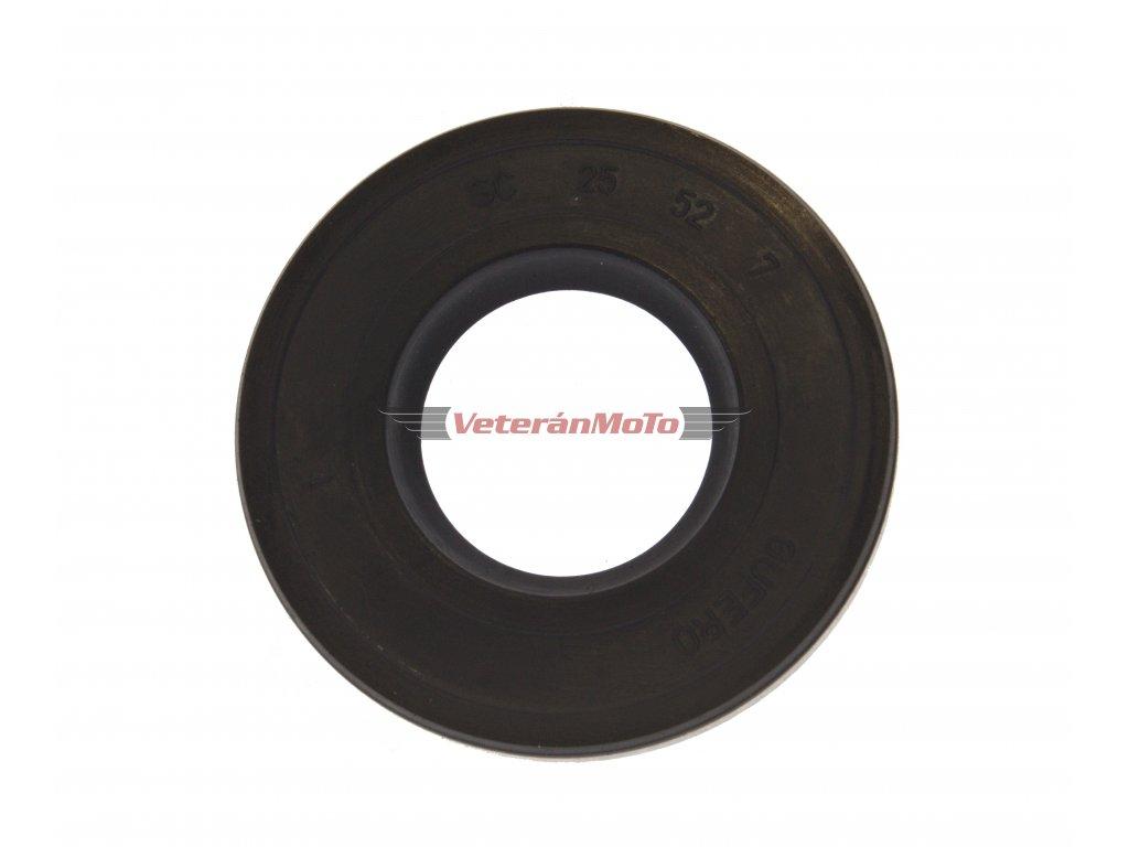 Gufero (hřídelový těsnící kroužek, simmerring, simering, simerink) NBR 25x52x7