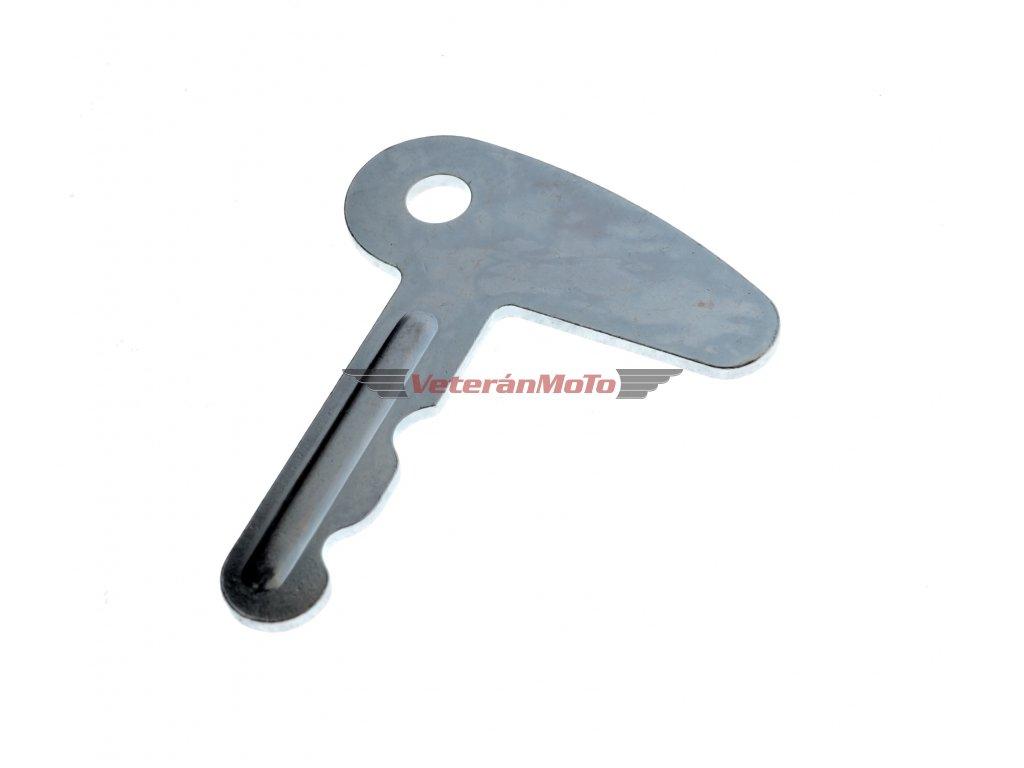 Klíč spínací skříňky s ampermetrem - zinek JAWA PÉRÁK, KÝVAČKA, JAWA-ČZ 351, 352, 355, 356 - Česká výroba