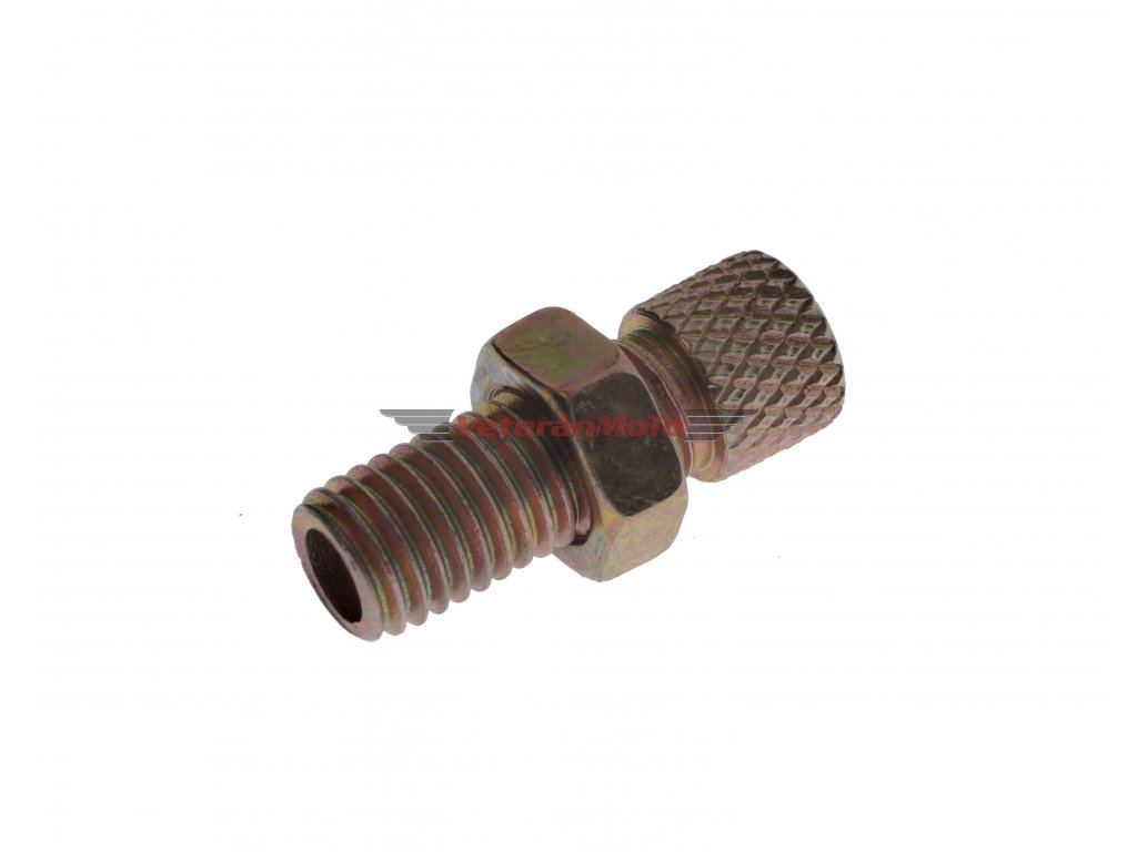 Vedení lanka / šroub seřizovací bowdenu karburátoru M7x1 JAWA, ČZ