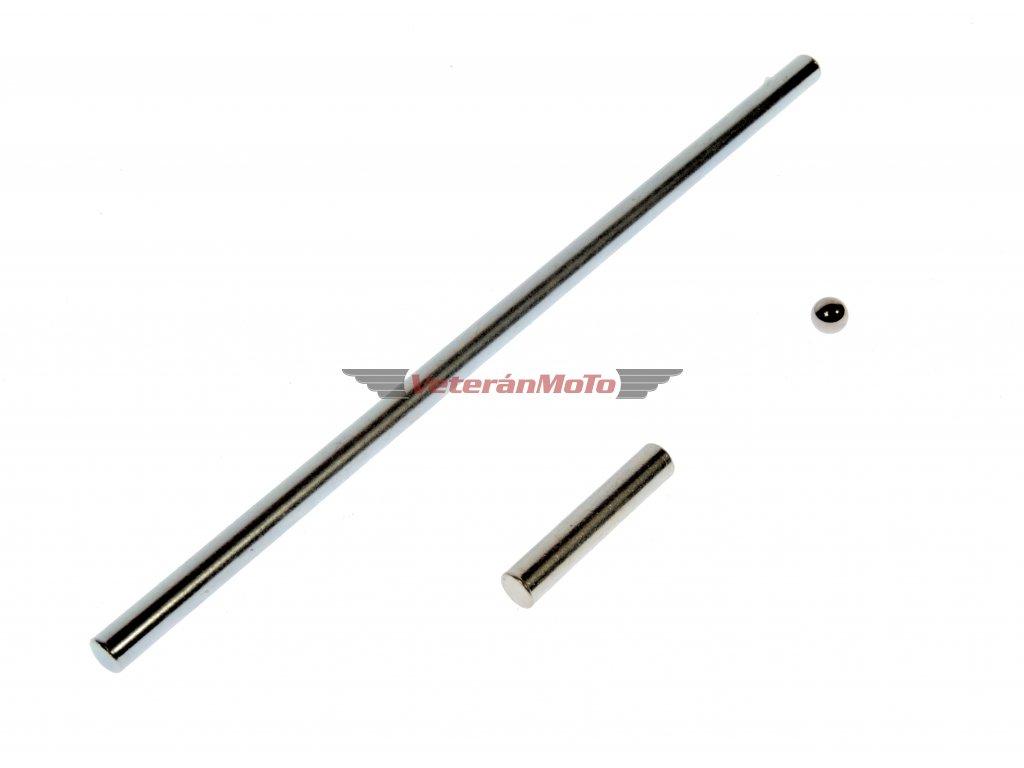 Tyčka spojky dlouhá, krátká a kulička d=5 JAWA 50 PIONÝR 05, 20, 21, 23