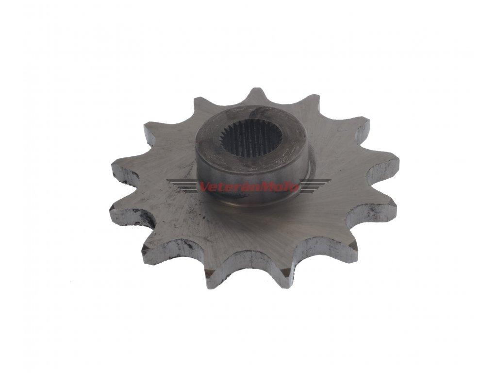 Řetězové kolečko přední - sekundárního převodu 12 zubů STADION S11, S22, JAWETTA