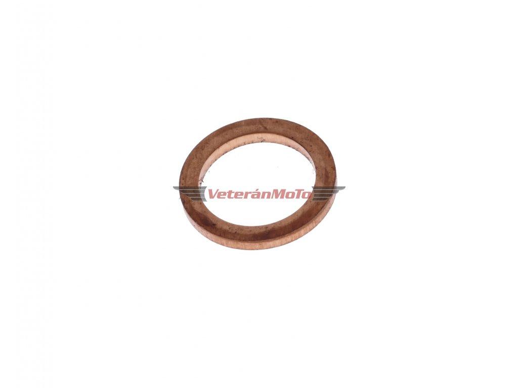 Těsnění / těsnící podložka dekompresoru 10x14x1,5 mm - mosazná STADION, JAWETTA