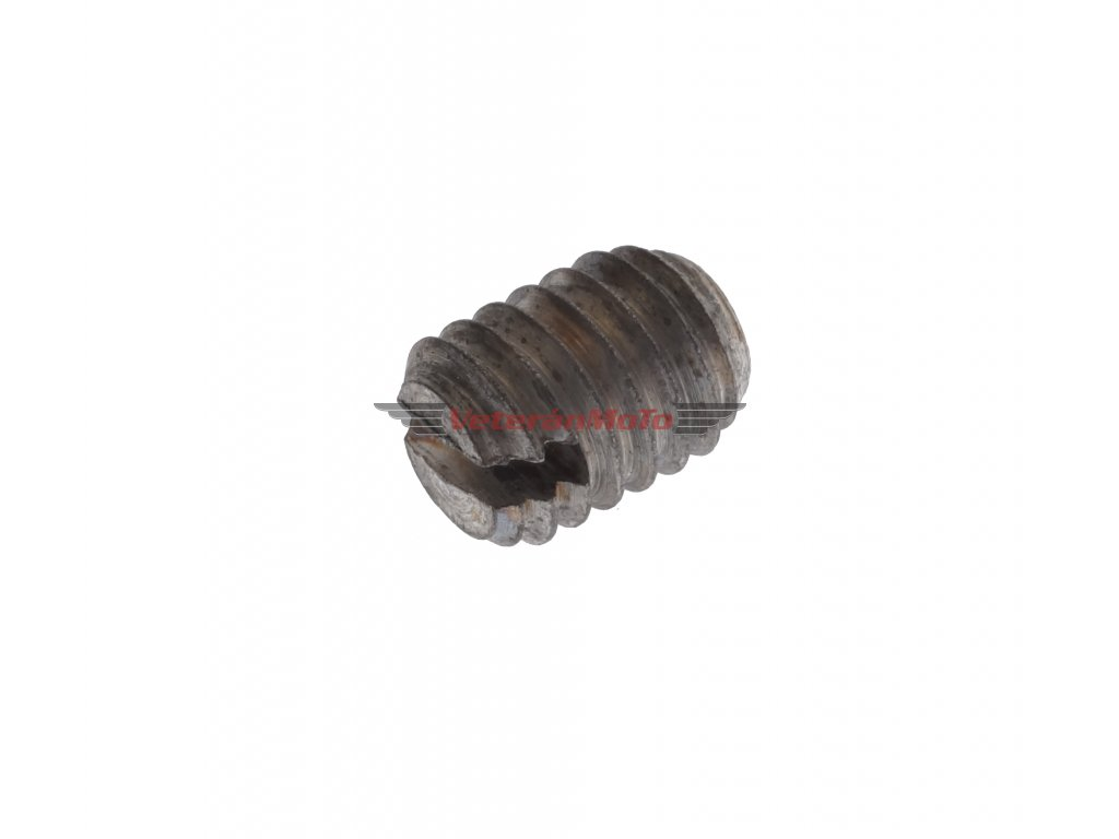 Červík / šroub stavěcí M6x8 plochý - objímky plynu JAWA, ČZ