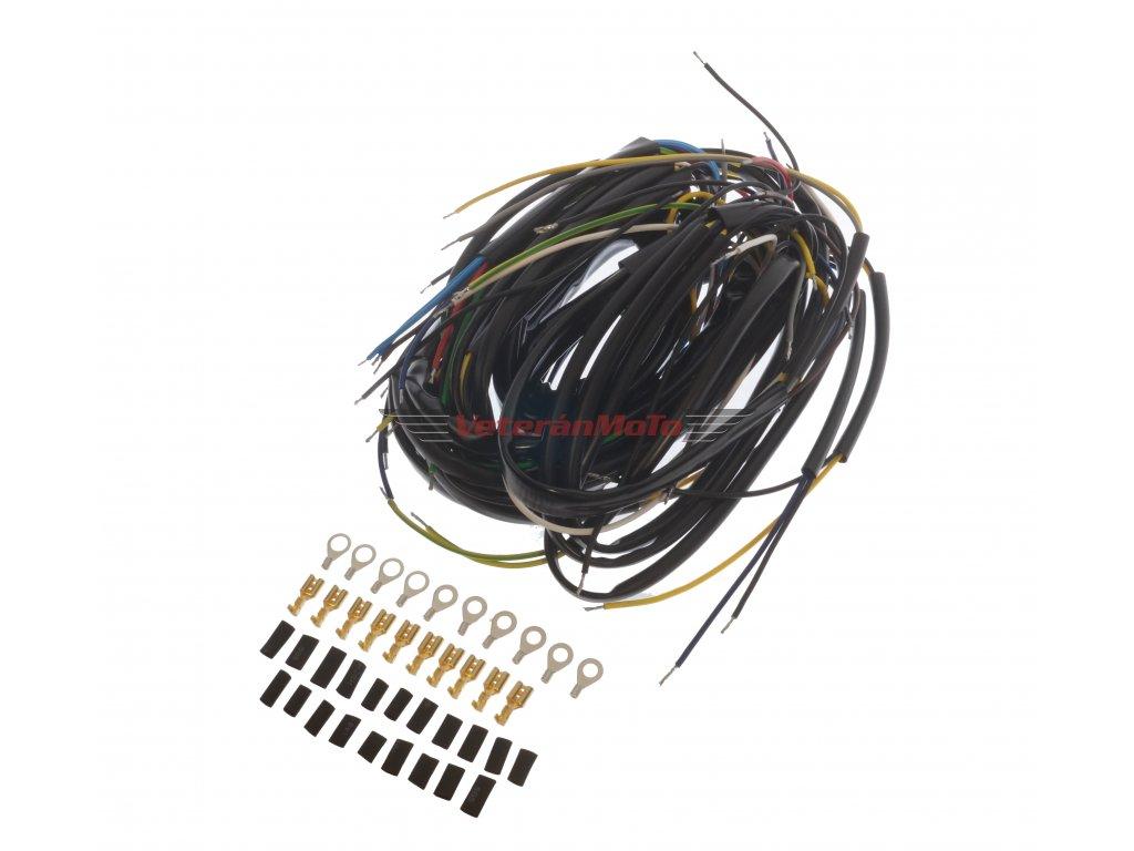 Elektroinstalace / kabeláž kompletní JAWA 350/634