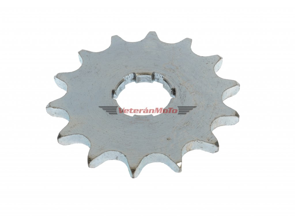 Řetězové kolečko přední - sekundárního převodu, 14 zubů JAWA 50 PIONÝR 550, 555, 05, 20, 21, 23