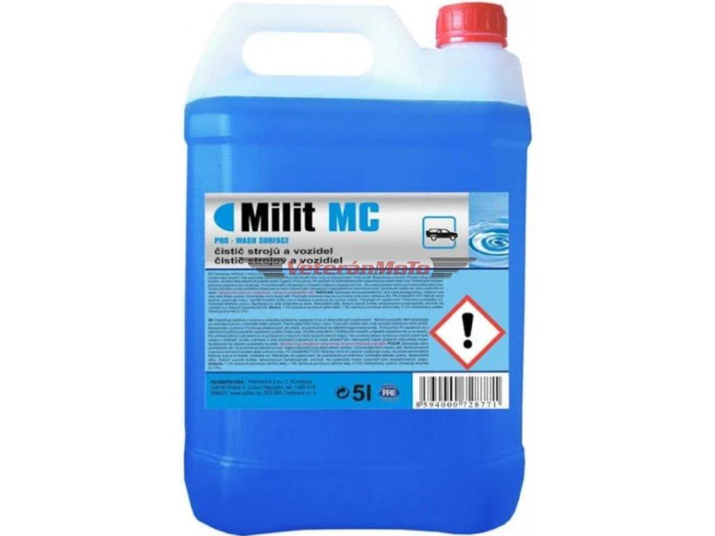 Milit - čistič - odstraňuje nečistoty z motorů, hmyz ze skel a karoserií