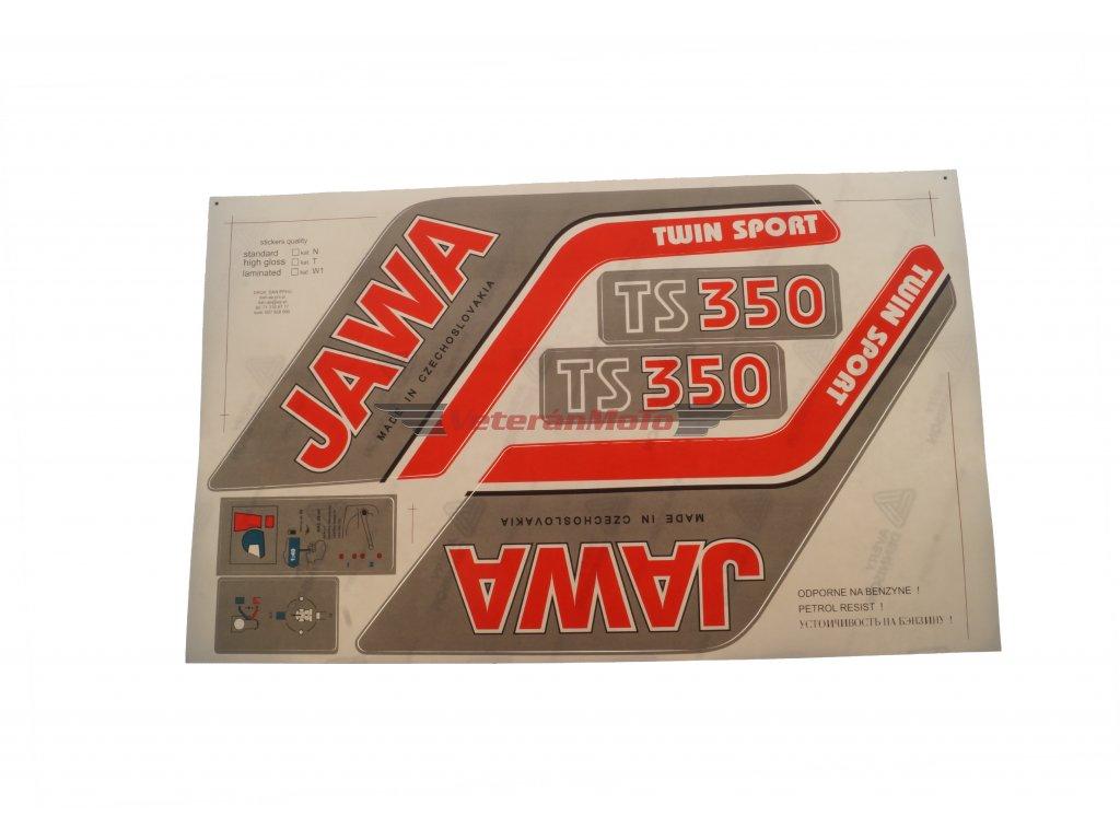 Nálepky / samolepky JAWA 350/638, 639 - sada