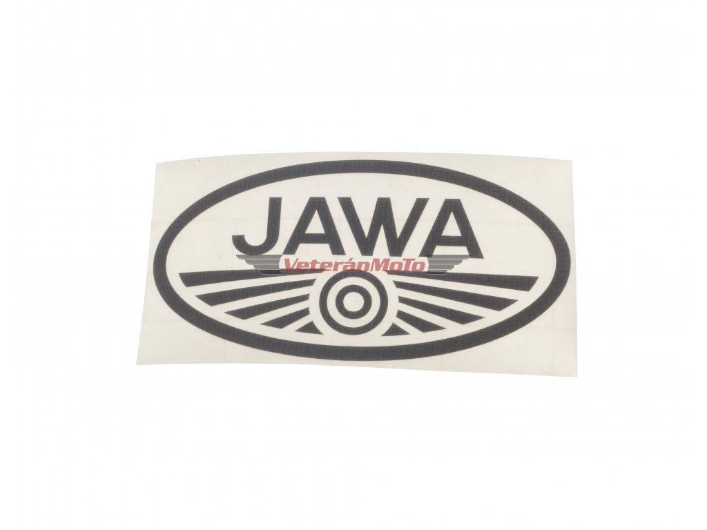 Nálepka / samolepka JAWA černá oválná 100x50mm
