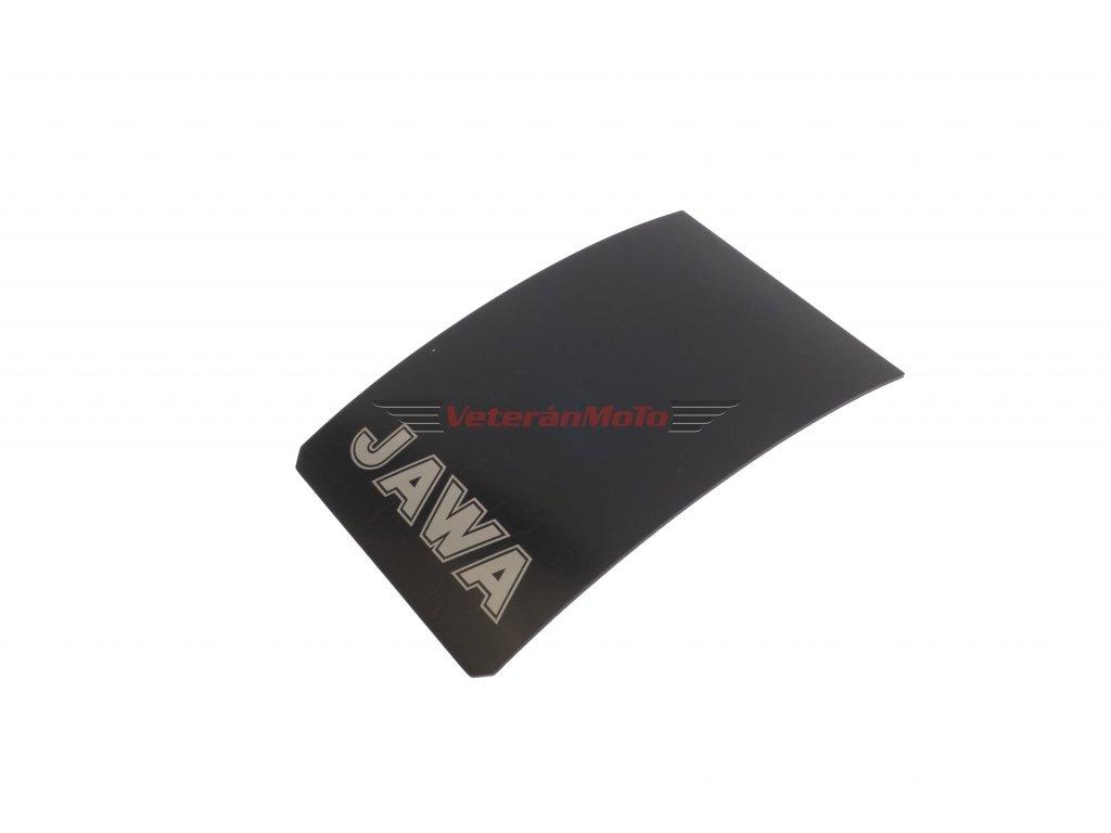Zástěrka zadního blatníku / lapač nečistot s nápisem JAWA bílý JAWA 50 PIONÝR 550, 555, 05, 20, 21, 23