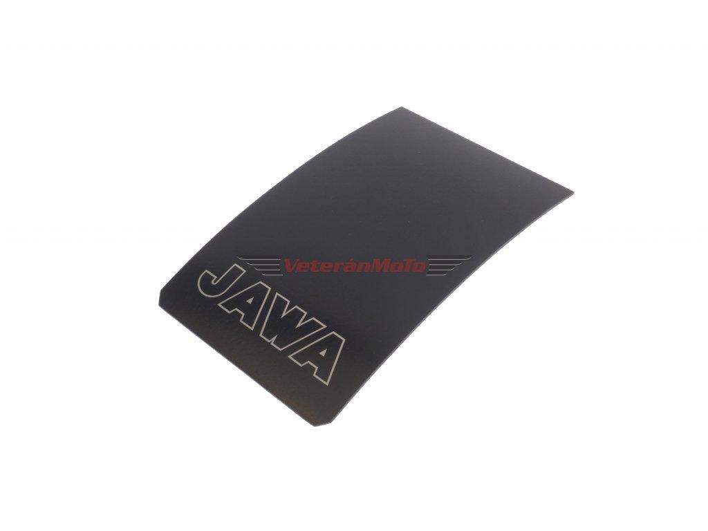Zástěrka zadního blatníku / lapač nečistot s nápisem JAWA kontura JAWA 50 PIONÝR 550, 555, 05, 20, 21, 23