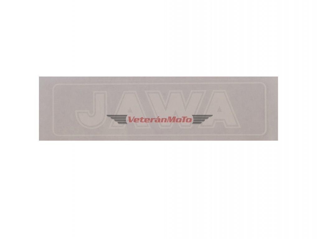 Nálepka / samolepka JAWA bílá 140x35mm
