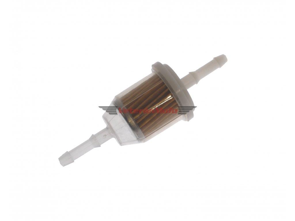 Palivový / benzinový filtr kulatý s papírovou vložkou IRP na hadičku s průměrem 5, 6
