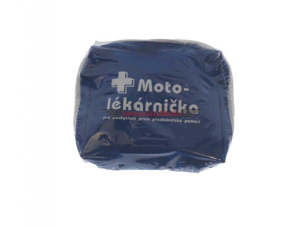Motolékárnička / lékárna pro poskytnutí předlékařské první pomoci, obsah lékárničky odpovídá novelizované vyhl. č.283/2009, praktický textilní obal.